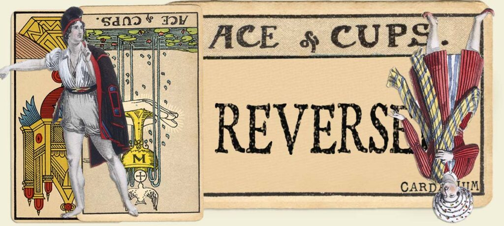 Reversed Ace of cups main section