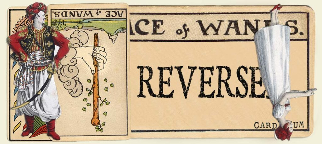 Reversed Ace of wands main section