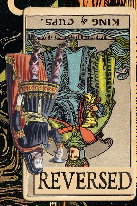 You are currently viewing Reversed King of Cups Meanings