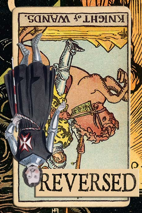You are currently viewing Reversed Knight of Wands Meanings