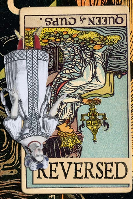 You are currently viewing Reversed Queen of Cups Meanings