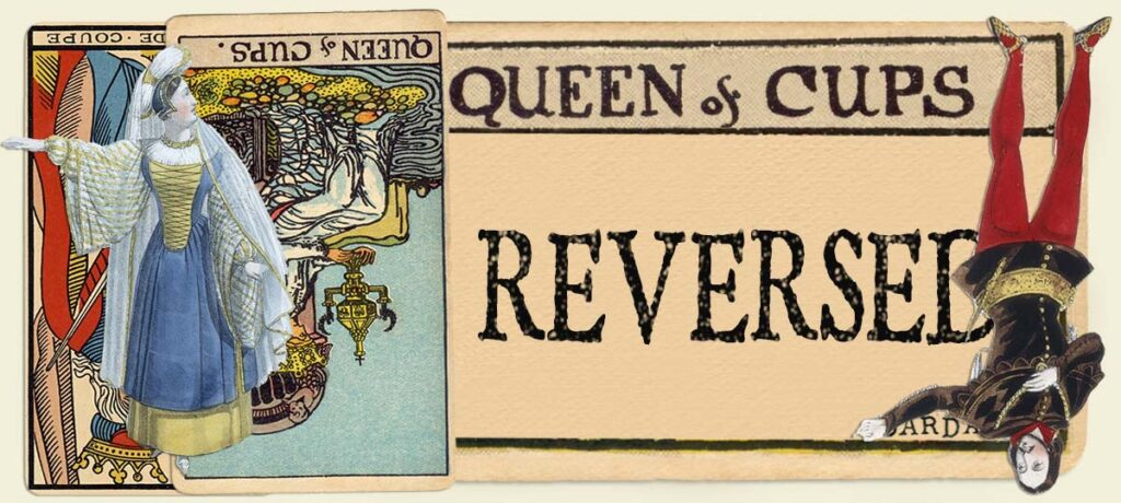 Reversed Queen of cups main section