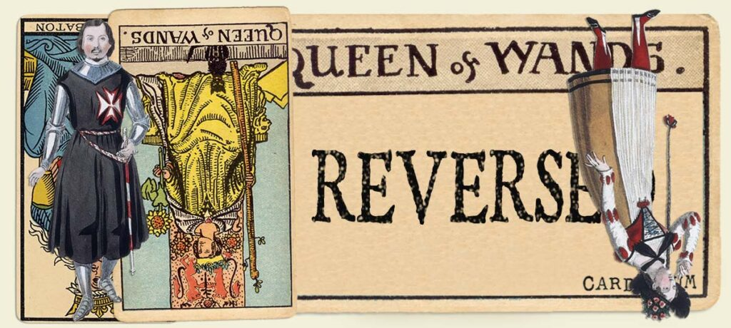 Reversed Queen of wands main section